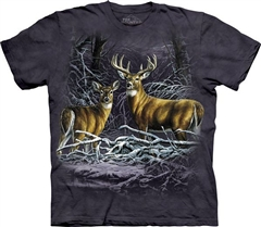 Zdjęcie The Mountain - Two Deer in Fallen Branches - T-shirt