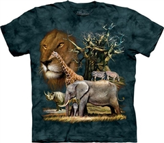 Zdjęcie The Mountain - Africa Collage - T-shirt