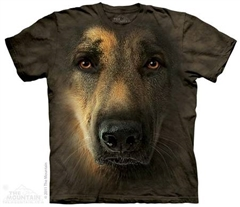 Zdjęcie The Mountain - German Shepherd Portrait - T-shirt
