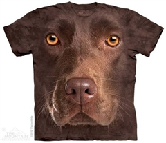 Zdjęcie The Mountain - Chocolate Lab Face - T-shirt