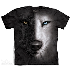 Zdjęcie The Mountain - Black And White Wolf Face - T-shirt