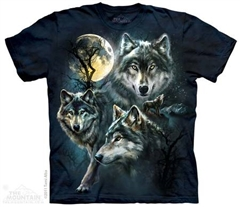 Zdjęcie The Mountain - Moon Wolves Collage - T-shirt