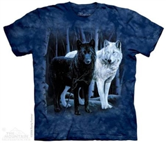 Zdjęcie The Mountain - Black & White Wolves - T-shirt