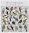 Dwustronna pościel Ptaki białe tło 210x200