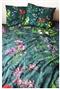 Dwustronna pościel Kwiaty polne 210x200 szmaragd