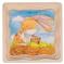Puzzle warstwowe - królik i marchewki