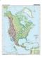 Ameryka Północna - mapa fizyczna 120x160 cm
