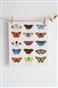 Motyle - komplet 12 dekoracyjnych kart 15x17cm