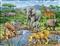 Sawanna afrykańska - puzzle