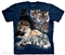 The Mountain - Big Cat Collage  - T-shirt