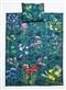 Dwustronna pościel Kwiaty polne 150x200 szmaragd