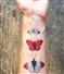Motyle - zestaw 12 tatuaży zmywalnych