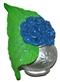 Kwiaty (niebieskie) w wazonie