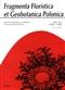 Fragmenta Floristica et Geobotanica Pol., XVI/1/2009